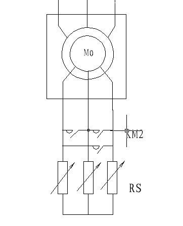 绕线水阻软启动器一次回路